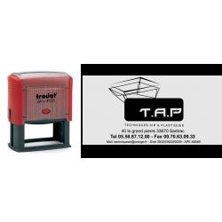 Tampon automatique logo 74x36 mm ref. 4926