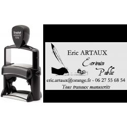 Tampon metal avec logo 57x33 mm ref. 5206