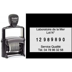 Numéroteur métal à personnaliser 8 bandes