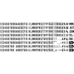 Plaquettes de lettres et chiffres de 3 mm
