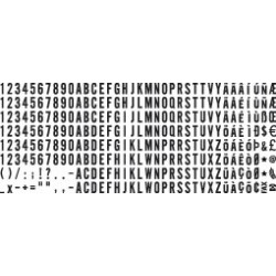 Plaquettes de lettres et chiffres de 4 mm