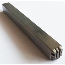 Poinçon à frapper 1 ligne de 6 à 10 mm de long