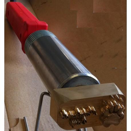 Marque à feu électrique avec textes de 10 à 35 mm